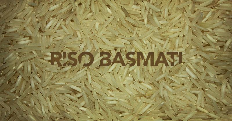chicchi di riso basmati con la scritta Riso Basmati