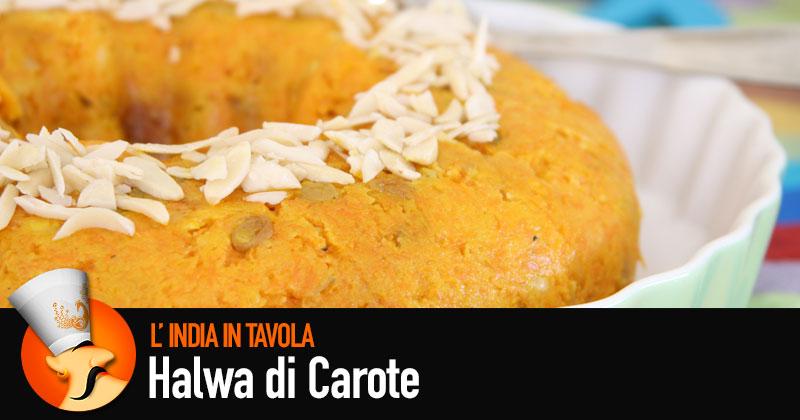 Del dolce color arancione in un piatto, halwa di carote: ricetta di Paaji