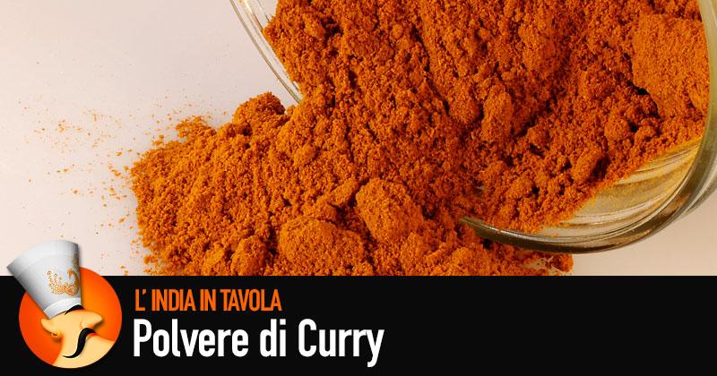 povere di curry rovesciata da un barattolo di vetro, illustrazione dello chef Paaji di India in tavola, e la scritta Polvere di Curry
