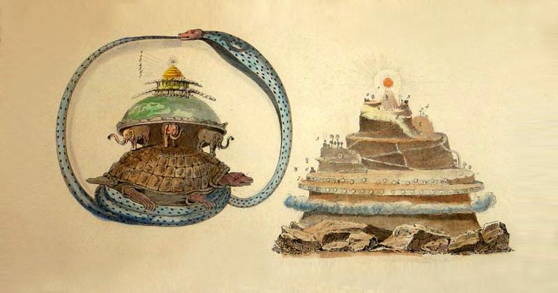 Il mito e la montagna Painting