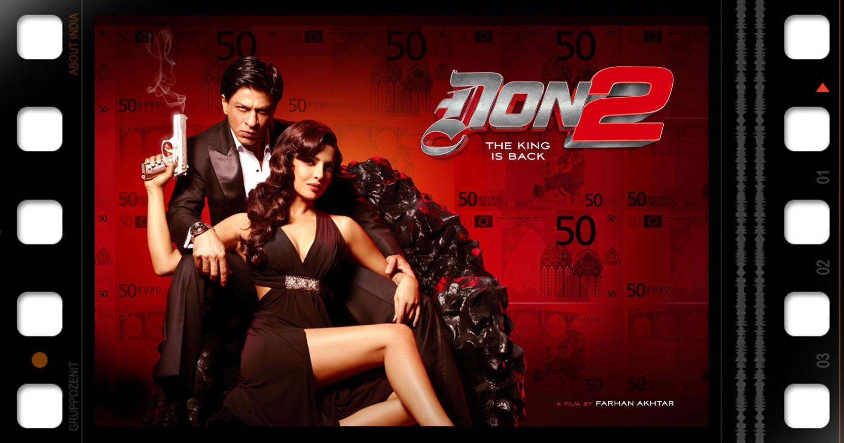 poster di Don 2 con Shah Rulkh Khan e Priyanka Chopra
