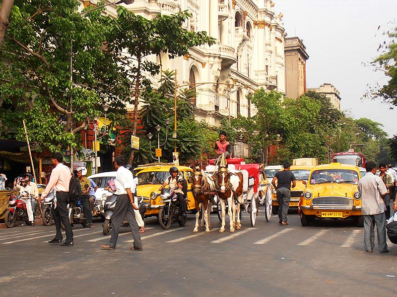Per la strada in centro