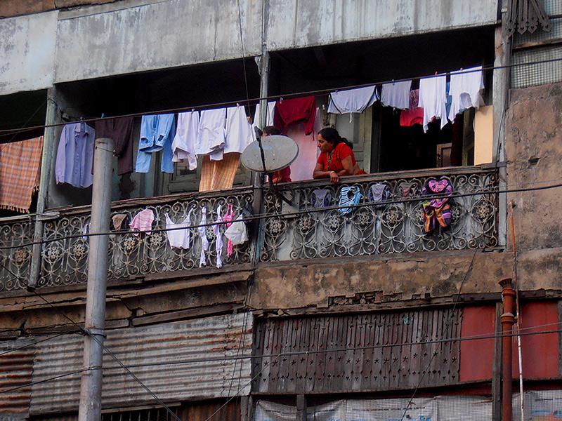 Kolkata dal balcone