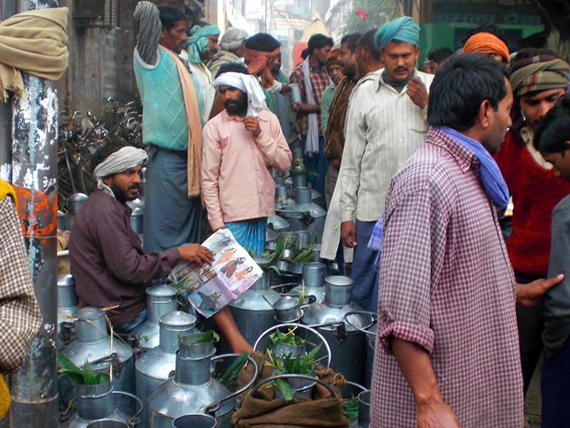 Milkmen in Varanasi lane