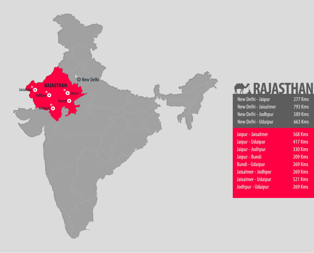Cartina Rajasthan India.Five Locations To Explore Rajasthan